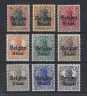 """GERMANY..... .OCCUPATION OF BELGIUM ....."""".1916.""""....9 STAMPS MNH.... - Occupation 1914-18"""