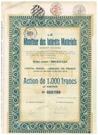 Titre Ancien - Le Moniteur Des Intérêts Matériels - Sté Anonyme  - Titre De 1925 - Actions & Titres