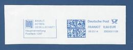 Deutsche Post FRANKIT - 0,60 EUR 2014 - 3D03001106 - BAG BASALT-ACTIEN-GESELLSCHAFT Hauptverwaltung (LINZ) - Marcofilia - EMA ( Maquina De Huellas A Franquear)