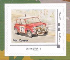 FRANCE 2018 Voitures De Sport Racing Cars Adhesive Mini Cooper MNH ** - Cars
