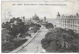 ! - France - Nice - Jardins Albert 1er - Hôtel Rhul Et Palais De La Jetée - 2 Scans - Monuments, édifices