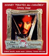"""SUPER PIN'S CINEMA-DISNEY : Johnny DEPP Dans Le Film """"PIRATE Des CARAÏBES"""" En ZAMAC Or Double Moule (c)DISNEY  4X4,3 Cm - Cinéma"""
