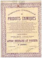Titre Ancien - Compagnie Commerciale Des Produits Chimiques - Sté Anonyme  - Titre De 1926 - Industrie