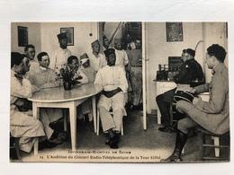 Ak Cp Audition Du Concert Radio De La Tour Eiffel Infirmerie Hopital Speyer Spire - Guerre 1914-18