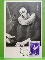 Carte Postale, Jacob Jordeans, Portrait De Femme , Timbre 90c Oblitéré Tournai - Autres