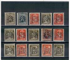 1930 - 33 - 34 - 35 - 36 - 37 - Préoblitérés BRUSSEL - BRUXELLES - Typo Precancels 1932-36 (Ceres And Mercurius)
