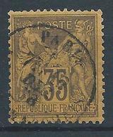 FRANCE - 1878 - Sage Type II - YT N°93 - 35 C. Violet-noir - Oblitéré - TB Etat - 1876-1898 Sage (Type II)
