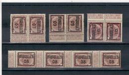 1907 - 08 - 09 - 10 -  Préoblitérés - BRUXELLES - Precancels