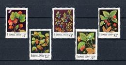 URSS :  Bacche  Selvatiche  -  5 Val. MNH**  Del  10.03.1982 - Frutta