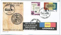 ANDORRE ESPAGNOL FDC Europa - Andorra Spagnola
