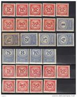 Autriche Timbres Taxe N° 34-39, 41-43, 46, 47, 48, 62, 63, 75-92, 93-101, 101A, 102-110, 111-116, 118, 119, 120 * Et O - Portomarken