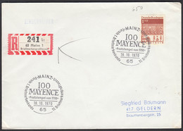 Mainz 1970 Sonder R-Zettel Auf Brief 100 MAYENCE  (25767 - Briefmarken