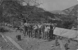 CARTE PHOTO BARRAGE DE CASTILLON De PROVENCE  1929 ?  VERDONBAU TRAVAILLEURS ALLEMANDS   (CASTELLANE) - France