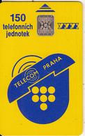 CZECHOSLOVAKIA - Telecom Praha Telecard 150 Units, Chip SC5, CN : 35428, Tirage %60000, 12/91, Used - Tchécoslovaquie