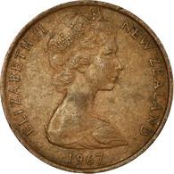 Monnaie, Nouvelle-Zélande, Elizabeth II, 2 Cents, 1967, TTB, Bronze, KM:32.1 - New Zealand