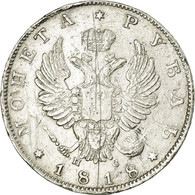 Monnaie, Russie, Alexander I, Rouble, 1818, Saint-Petersburg, TTB, Argent - Rusland