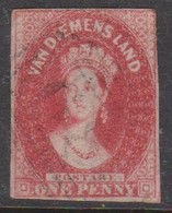 Australia-Tasmania SG 29 1867,One Penny Carmine,imperforate,used - 1853-1912 Tasmania