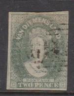 Australia-Tasmania SG 30 1857 Twoo Pence Emerald Green,imperforate,used - 1853-1912 Tasmania