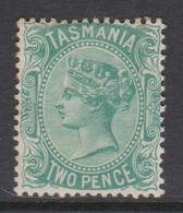 Australia-Tasmania SG 145 1872 Two Pence Green,mint Hinged,toned Perf - Mint Stamps