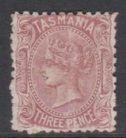 Australia-Tasmania SG 146b 1871 Three Pence Red Brown,mint Hinged,toned Perf - Nuevos