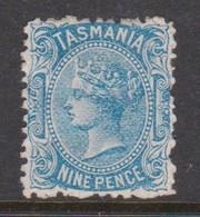 Australia-Tasmania SG 154 1871 Nine Pence Pale Blue,mint Hinged,perf 12 - Neufs