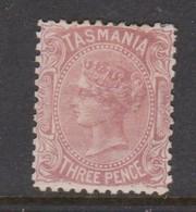 Australia-Tasmania SG 165 1880 3d Red Brown,mint Hinged,perf 12 - Neufs