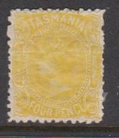 Australia-Tasmania SG 166 1880 4d Yellow,mint Hinged,perf 12 - Neufs