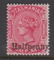 Australia-Tasmania SG 167 1889  Half Penny,mint Hinged,perf 14 - Ongebruikt