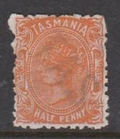 Australia-Tasmania SG 170a 1891 Half Penny Brown Orange,mint Hinged,perf 11.5 - Mint Stamps