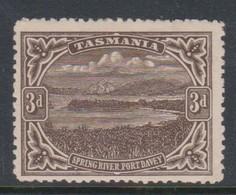 Australia-Tasmania SG 233 1899-00 3d Sepia,perf 14,mint Hinged - Ongebruikt