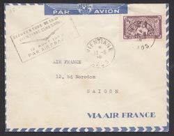 Indochina 1948 Vientiane To Saigon Airmail - Indochina (1889-1945)