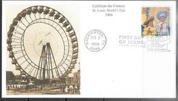US 1998  Sc#3182e  Celebrate The Century 1904  St Louis Worlds Fair On Mystic FDC - 1991-2000