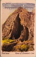 "PITCAIRN ISLAND  -  Phonecard  -  Views Of Christian's Cave ""  -  $20.00 - Pitcairn Islands"