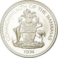 Monnaie, Bahamas, Elizabeth II, 5 Dollars, 1974, Franklin Mint, U.S.A., Proof - Bahamas