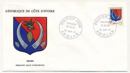Côte D'Ivoire => Enveloppe FDC - 5f Armoiries De Dalda - ABIDJAN - 27 Janvier 1973 - Ivory Coast (1960-...)