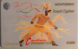 "MONTSERRAT  -  Phonecard  - Cable § Wireless ""  -  "" Royal Cypher ""  - EC $20 - Montserrat"