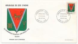 Côte D'Ivoire => Enveloppe FDC - Armoiries De Bouake - ABIDJAN - 25 Octobre 1969 - Ivory Coast (1960-...)