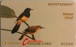 "MONTSERRAT  -  Phonecard  - Cable § Wireless ""  -  "" Icterus Oberi ""  - EC $20 - Montserrat"