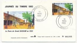 Côte D'Ivoire => Enveloppe FDC - 100f La Poste De Grand Bassam En 1903 - ABIDJAN - 19 Mars 1983 - Ivory Coast (1960-...)