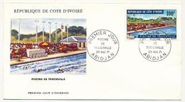 Côte D'Ivoire => Enveloppe FDC - 100f Piscine De Treichville - ABIDJAN - 29 Mai 1971 - Ivory Coast (1960-...)