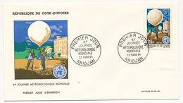 Côte D'Ivoire => Enveloppe FDC - 25f 4eme Journée Météorologique Mondiale  - ABIDJAN - 23 Mars 1964 - Ivory Coast (1960-...)