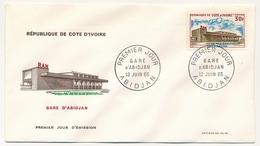 Côte D'Ivoire => Enveloppe FDC - 30f Gare D'Abidjan  - ABIDJAN - 12 Juillet 1965 - Ivory Coast (1960-...)