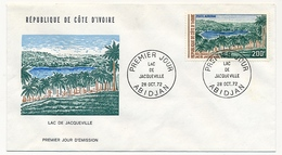 Côte D'Ivoire => Enveloppe FDC - 200f Lac De Jacqueville - ABIDJAN - 28 Octobre 1972 - Ivory Coast (1960-...)