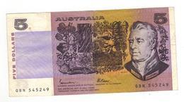 Australia 5 Dollars, F+. - Decimal Government Issues 1966-...