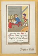 C.P.A. Joyeux Noël - Enfants Et Crêche - Andere
