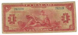 Netherlands Antilles , Curacao.  1 Gulden 1942, VG/F. - Antilles Néerlandaises (...-1986)