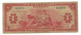 Netherlands Antilles , Curacao.  1 Gulden 1942, VG/F. - Netherlands Antilles (...-1986)