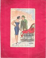 ILLUSTRATEUR   -  CPA COLORISEE -   HUMOUR - Etre Chauffeur De Taxi........... Travail écrasant - BIS - - Künstlerkarten