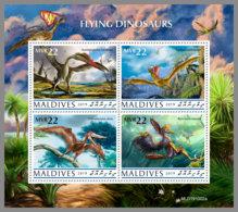 MALDIVES 2019 MNH Flying Dinosaurs Fliegende Dinosaurier Dinosaures Volants M/S - OFFICIAL ISSUE - DH2008 - Briefmarken