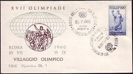 Italy - 1960 R - Olympic Games 1960 - Cover - Estate 1960: Roma